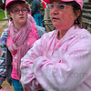 Tribune-Star/Joseph C. Garza<br /> Survivor: Breast cancer survivor Sally Roetker talks about how the support from family and friends and fellow survivors helped her endure during a Breast Cancer Awareness Month event Thursday at the Vigo County Courthouse.