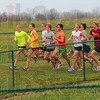 Tribune-Star/Joseph C. Garza<br /> Through the twists and turns: The Terre Haute North boys cross country team runs through one of the loops in the Lavern Gibson Championship Cross Country course Thursday in preparation for the IHSAA state championship Saturday.