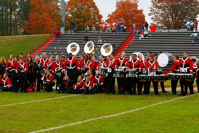 The Gardner-Webb Runnin' Bulldog marching band entertains the crowds during the half time of the 2009 Homecoming game.