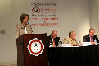 The Goldbold School of Business: Center for Ethics and Entrepreneurship hosts a healthcare symposium in Blanton Auditorium; October 01, 2009.