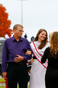 The 2009 Homecoming Court.  Claire Saunders and father.