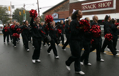 The Bulldogs Cheerleading Squad makes an appearance at the Homecoming day parade on Saturday.
