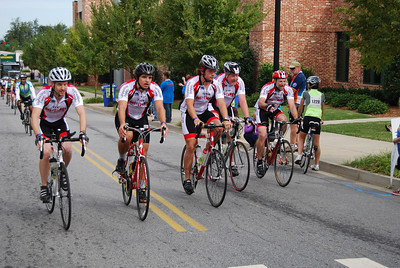 The GWU MS bike team finishes their second day (35 miles).