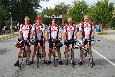 The GWU MS bike team consisted of Kent Blevins, Justus Hawks, Taylor Doolittle, Adam Fisher, and Don Olive.