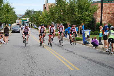The GWU MS Bike Team stays strong until they are finished with their 2-day bike ride.