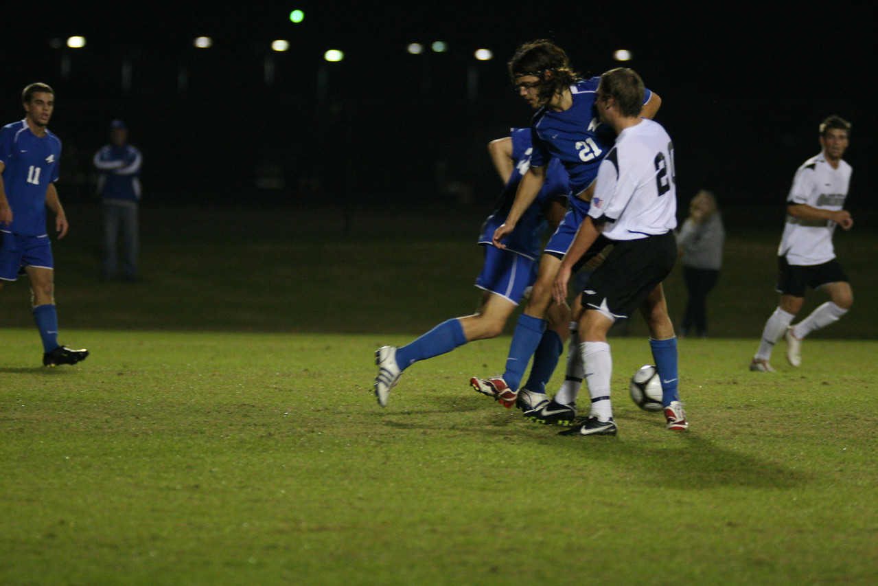 The men's soccer team seals a victory over UNC Asheville 2-1 Wednesday night.