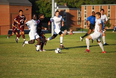 Romeo Kabanda battles an opponent for the ball.