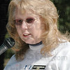 Welcome: Susan Hoopengarner addresses those in attendance at the Walk to Remember event at Deming Park Sunday afternoon.