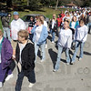 Walk: Hundreds participated in the Walk to Remember event at Deming Park Sunday afternoon.