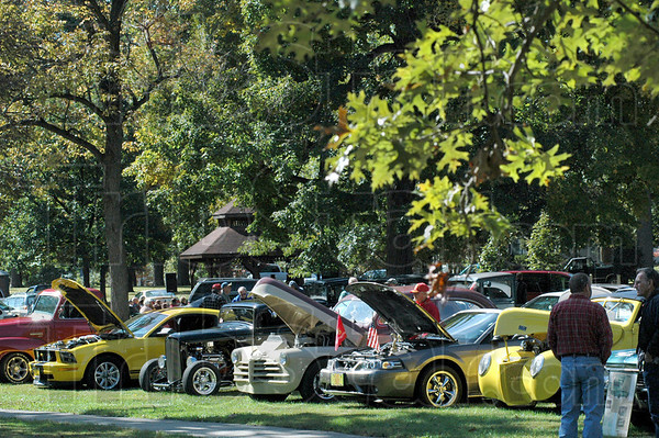 Old fashioned Days: Scores of show cars were on display at the annual Old Fashioned Days event at Collett Park Sunday afternoon.
