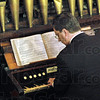 Organist: Keith Williams plays the historic organ in the Allen Chapel Sunday afternoon.
