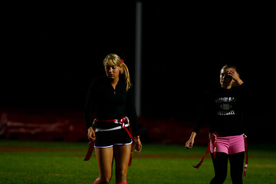 A favorite activity for students during Homecoming weekend is Powder Puff Football, played by girls.