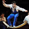 Balancing act: Circus performers show their skills during the Shrine Circus opening Friday evening.