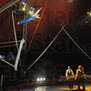 High flyer: An aerial act performs during Friday's Shrine Circus at Fairbanks Park.