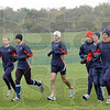Pre Pre-Nationals: Members of the University of Illinois cross-country team familiarize themselves with the course Friday afternoon.