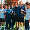 Tribune-Star/Joseph C. Garza<br /> Regional champs: Members of the Terre Haute North boys tennis team pose for a victory photo after they took the Vincennes Lincoln regional championship Saturday.