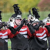 Brass: Members of the South marching band perform Saturday at Memorial Stadium.