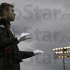 Drum Major: The Terre Haute South Drum Major directs his band during competition at Memorial Stadium Saturday afternoon.