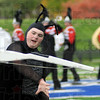 Rifle: A Terre Haute South performer flips a rifle during Saturday's competition at Memorial Stadium.