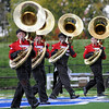 Tuba: South band members perform during Saturday's competition at Memorial Stadium.