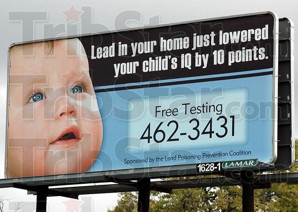 Lead sign: A billboard on Lafayette Avenue near 12 Points.