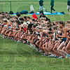Tribune-Star/Joseph C. Garza<br /> First Blue wave: Competitors in the women's Blue race sprint from the finish after the sound of the starting gun during the 2009 ISU Pre-National Invitational Saturday at the Lavern Gibson Championship Cross Country Course.