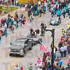 Tribune-Star/Joseph C. Garza<br /> Homecoming crowd: Hundreds of parade-goers line the street near the intersection of Seventh Street and Wabash Avenue Saturday for the Indiana State University homecoming parade.