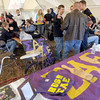 Homecoming happening: Sigma Alpha Epsilon fraternity members and guests catch-up during Saturday's homecoming at Memorial Stadium.