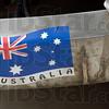 Aussies: Stick applied to the 1940 Pontiac driven by Australians John Felder and John Shorland.