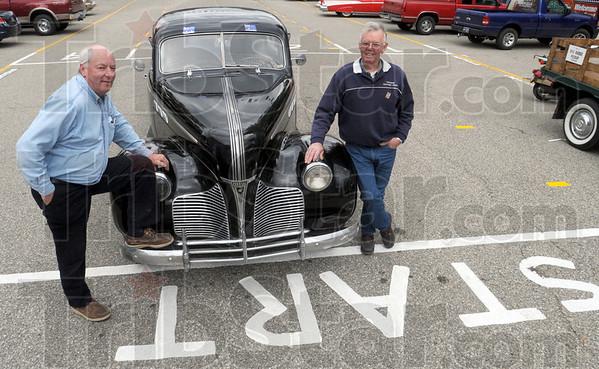Aussie..Aussie...Aussie! : Australians John Felder and John Shorland will drive this 1940 Pontiac in this years Newport Hill Climb competition.