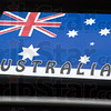 Detail: Australia decal on 1940 Pontiac driven by two Australians at the Newport Hillclimb.