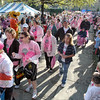 "Survivor walk: Hundreds of cancer survivors participate in the ""survivors walk"" at St. Mary's Saturday morning."