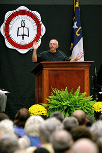 Author William Paul Young, writer of The Shack, speaks to the community and students in the LYCC; October 31, 2009.