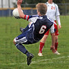 "Wheel kick: North's #6, Benjamin Ramseier attempts a ""wheel kick"" during sectional action against South Monday evening."