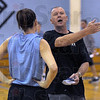 Making point: ISU coach Jim Weidie makes a point to one of his players during a recent practice session at the Terre Haute Boy's and Girl's Club.