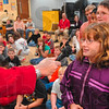 "Tribune-Star/Joseph C. Garza<br /> Onomatopoeia: Deming Elementary School fifth-grader Valleri Strange offers her own word for the song, ""Onomatopoeia,"" as Principal Susan Mardis holds the microphone Tuesday at the school. The song was sang by musical educator Randy Beard."