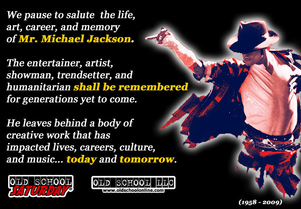 Join us on July 11th at The Hyatt Regency --- You'll enjoy a SPECIAL TRIBUTE to Michael Jackson...you won't want to miss this one.