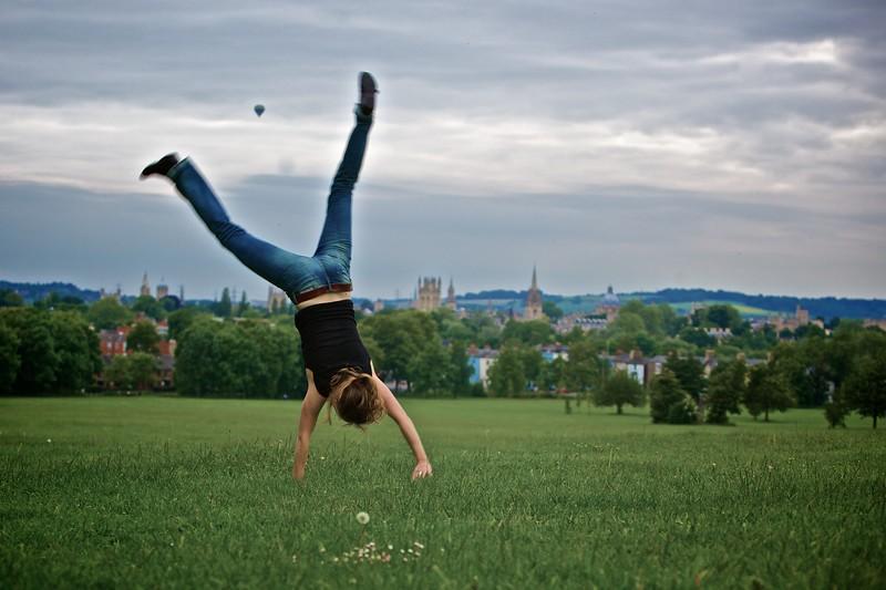 Andrea on Headington Hill.