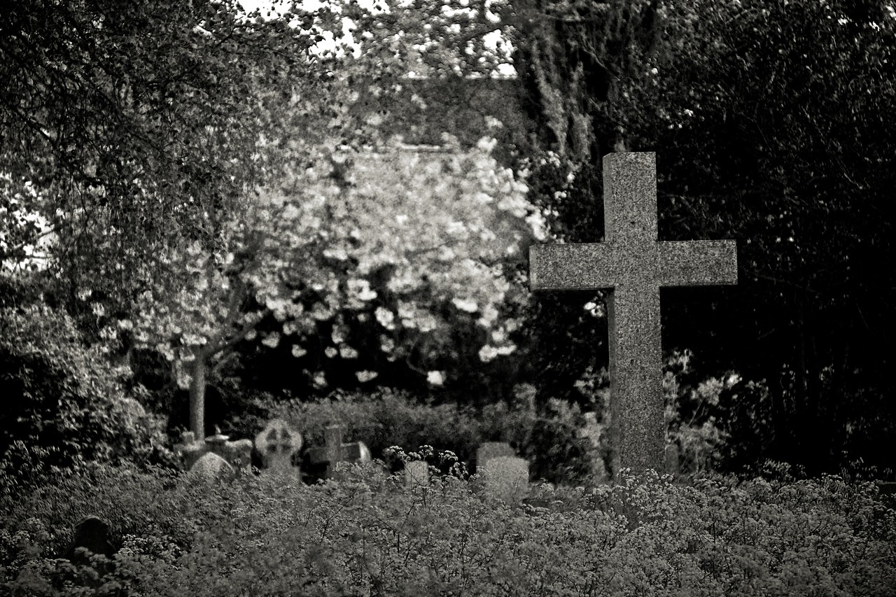 The churchyard of St Thomas' church in Becket Street.
