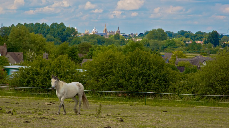 The city from Boars Hill.