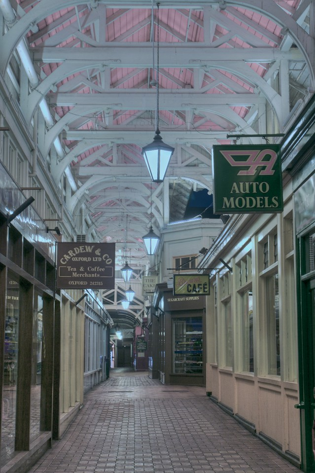 The Covered Market after closing-time.