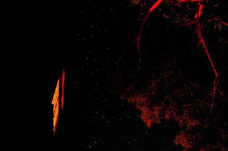 Natten bjöd på en vidunderlig stjärnhimmel...