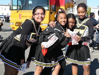 Newburgh Pop Warner Cheerleaders enjoy the activities at the 7th Annual Jack O'Lantern Jubilee, held at the City of Newburgh Activity Center on Sunday, October 25, 2009. Hudson Valley Press/CHUCK STEWART, JR.
