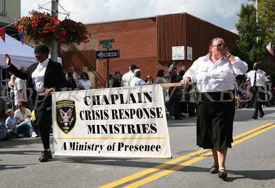 The Chaplain Crisis Response Ministries marches down Main Street as part of the 32nd Annual Spirit of Beacon Day Parade held on Sunday, October 4, 2009. Hudson Valley Press/CHUCK STEWART, JR.