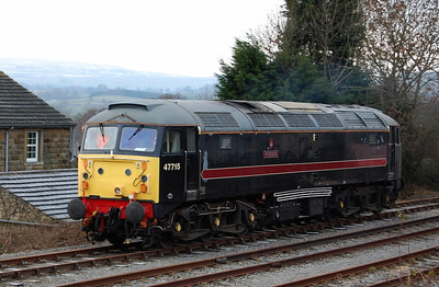 47715 runs round at Redmire after working the 1005 from Leeming Bar (04/01/2009)