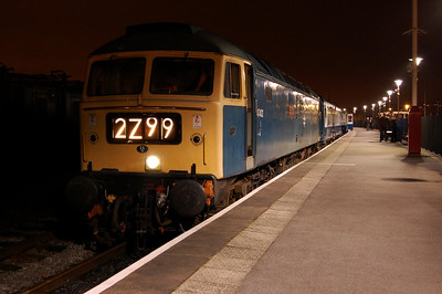 47402 'Gateshead' is pictured at Heywood with 1J96 1945 from Rawtenstall during the East Lancashire Railway's 'Nightrider' event (14/03/2009)