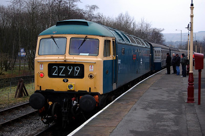 47402 'Gateshead' at Rawtenstall prior to working the 1540 to Heywood during a diesel event at the East Lancashire Railway (04/01/2009)