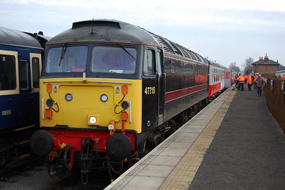 47715 'Poseidon' at Leeming Bar with the 1005 to Redmire - a cracking way to start the New Year! (04/01/2009)