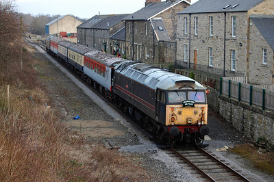 Another view of 47703 on the rear of the 1305 ex-Redmire during the 'lunch break' at Leyburn (04/01/2009)