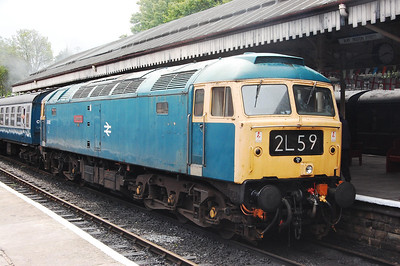 47402 stands at Bury with the 1420 Heywood-Rawtenstall. At this point we were clean bowled when a Tractor was attached to the front of the train for a test run to Ramsbottom. I suppose heritage railways are all about 're-creating the experience'... so luc